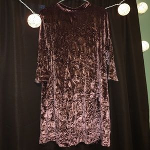 Zara crushed velvet dress!
